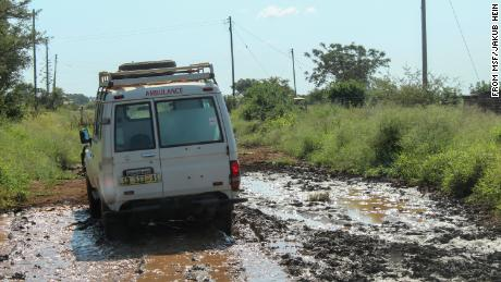 A Medecins sans Frontieres mobile clinic in eSwatini