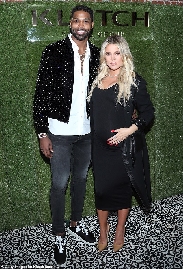 Complicated: Khloe welcomed daughter True Thompson into the world on April 12, 2018, just days after learning Tristan had been unfaithful to her (seen in 2018)