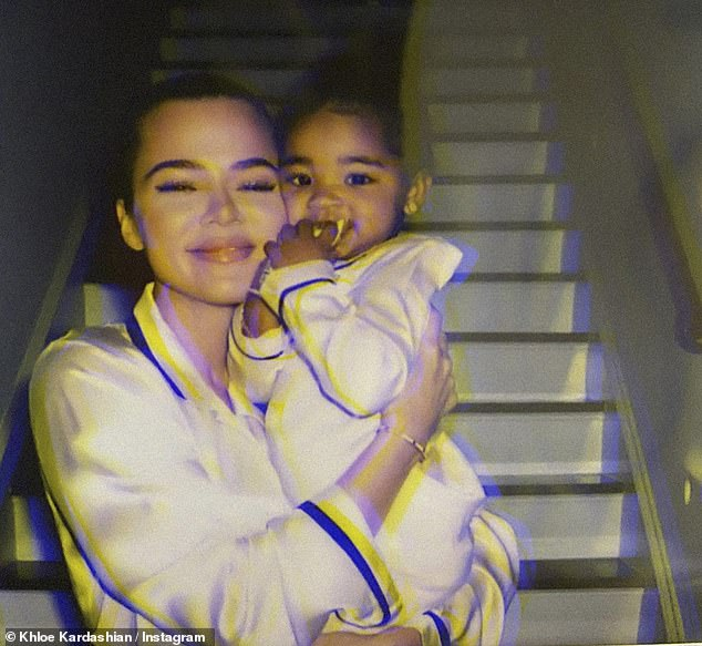 Mom life: The youngest Kardashian daughter began dating her future baby-daddy, Tristan, in September 2016, before announcing they were pregnant the following year