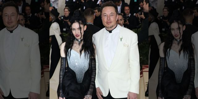 "Grimes and Elon Musk attend ""Heavenly Bodies: Fashion & the Catholic Imagination"", the 2018 Costume Institute Benefit at Metropolitan Museum of Art on May 7, 2018 in New York City."