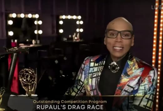 RuPaul With Emmy Award