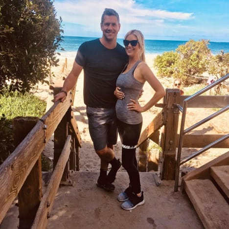 Christina El Moussa Works Out Pregnant with Ant Anstead